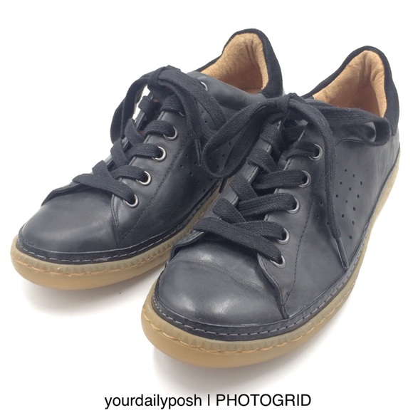 Sofft black leather Arianna lace-up sneakers 6.5